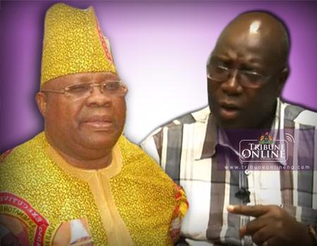 Otunba Ademola Adeleke (left) and Sen Hussain Mudashiru (right)