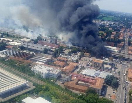 explosion, Italian highway