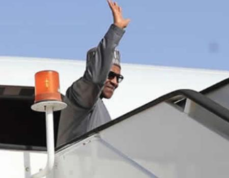 Buhari departs Dubai for Abuja